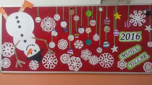 #Bilge# 2016 yeni yıl panosu. Rotary yeşiltepe ortaokulu...
