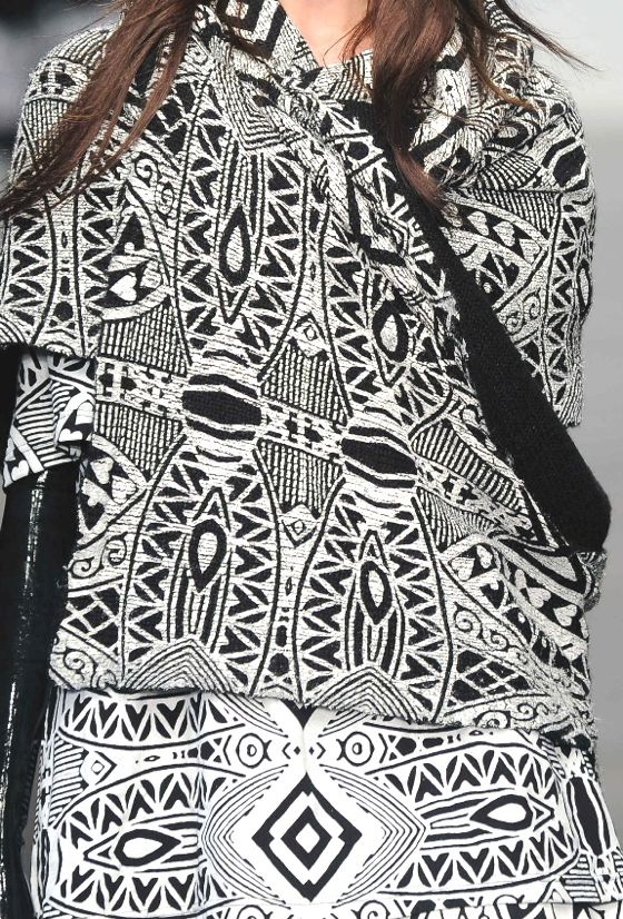 Stampe e patterns dalla London Fashion Week (collezioni donna autunno/inverno 2013/14).  KTZ