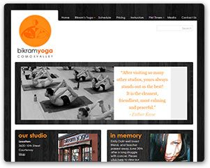A web site we designed for Bikram Yoga Comox Valley; where you can often find our designer at class.