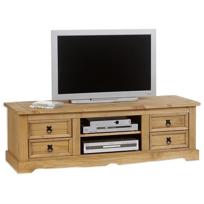 beau  meuble tv pin massif