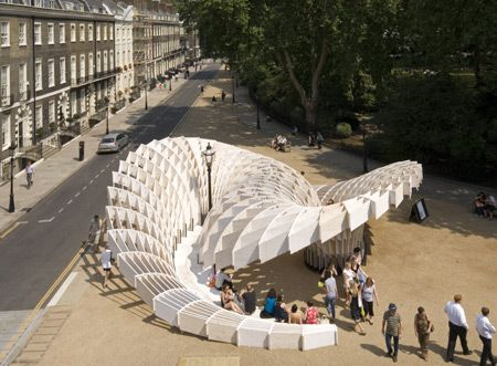 Swoosh rift London   London City Alternative  amp  Street Architectural  Pavilion    Art by      mexican architects com   and Art Life Association I