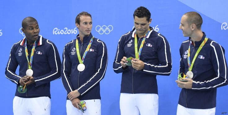 La France décroche sa première médaille aux JO, une deuxième place au relais 4x100 m nage libre
