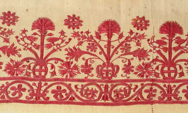 Crete Embroidery, Crete, Greek Islands, 18th C.