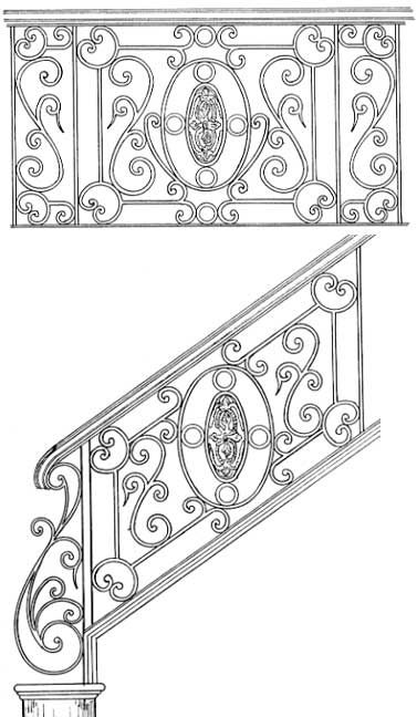 Stair Railing Designs - ISR007B