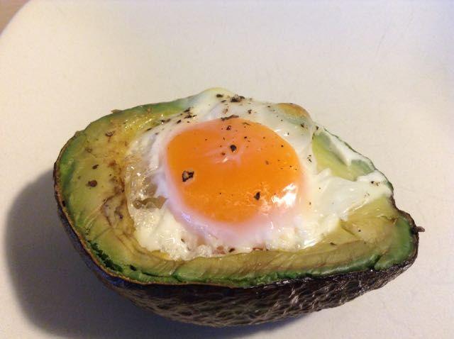 Baked Avocado Eggs. Just 2 ingredients: avocado. eggs. (plus salt & pepper) http://kristenyarker.com/blog/baked-avocado-eggs