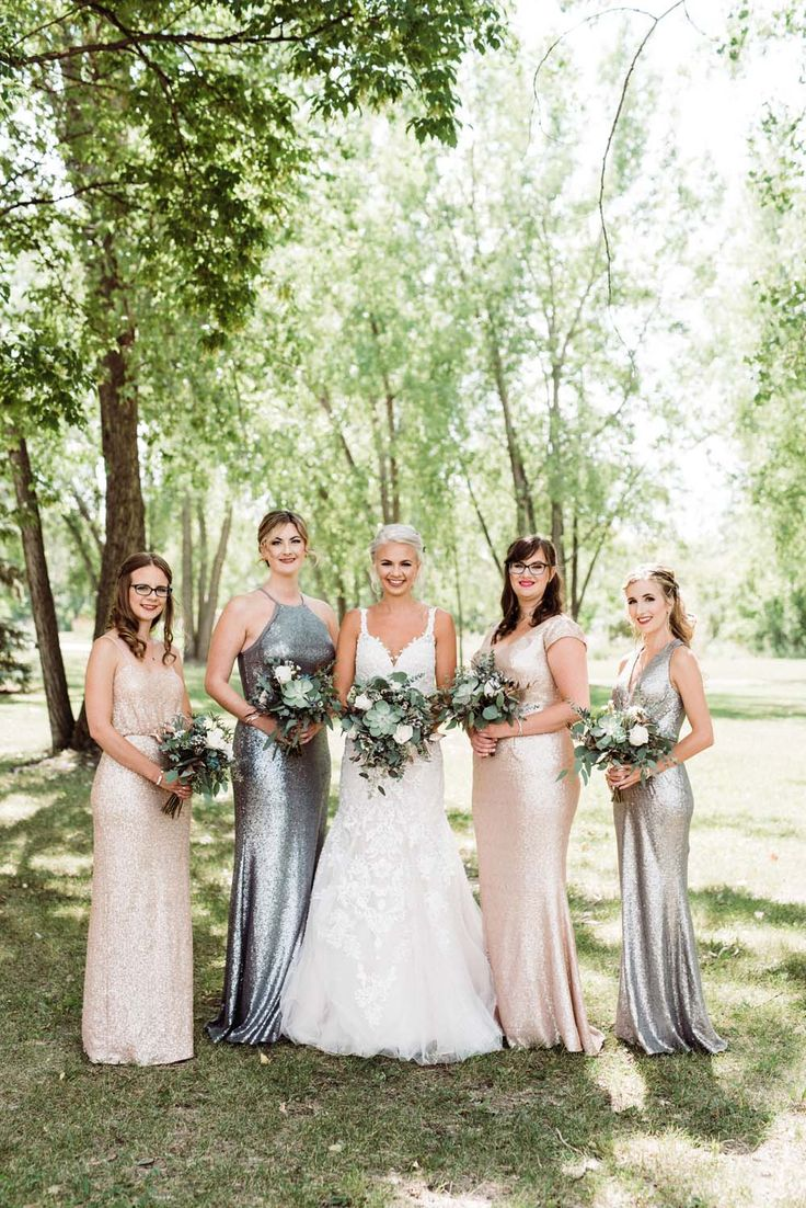 434 best bridesmaid dresses and gifts images on pinterest ball a modern copper and silver wedding in winnipeg ombrellifo Choice Image