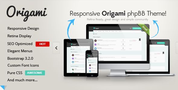 Origami | Creative & #Responsive Premium Template #phpBB 3.1 #PhpBB-Forums #html5 #css3 via @medosadvert