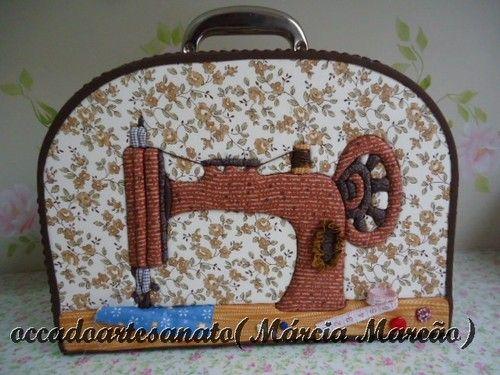 Maleta para costura!!!! - Marcia Marcão Pano Pintado - Terra Fotolog
