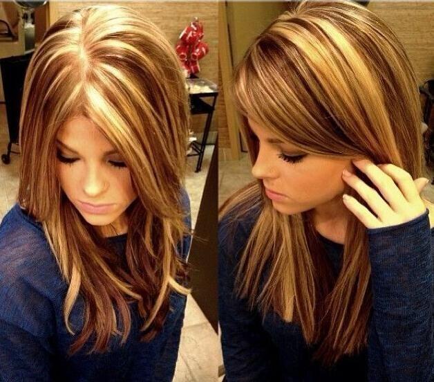 Blunt Medium Straight Hair Styles - Highlight Lowlights