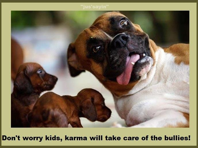 Funny quote about karma. For the best one line funny jokes and hilarious quotes visit www.bestfunnyjokes4u.com/short-funny-quotes/