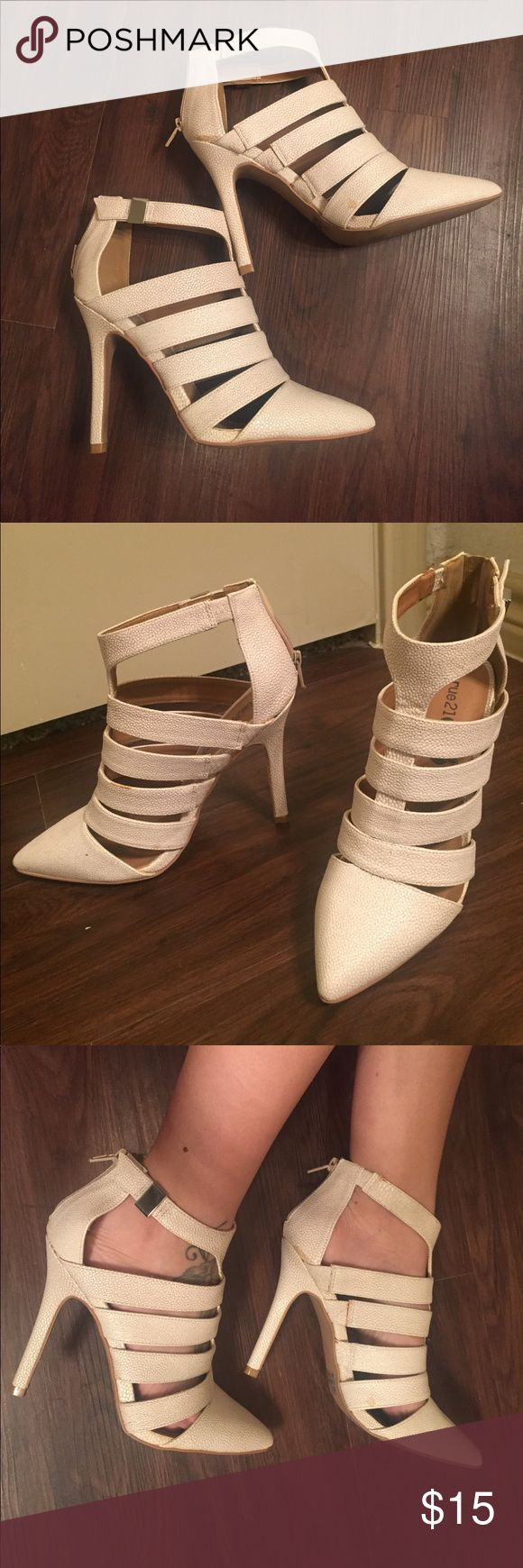 💛BRAND NEW💛 Women's nude zip heels Rue 21 BRAND NEW women's heels! nude color, zips in back, goes with anything! 👠💛 Size Large-fits size 8-8.5 Rue21 Shoes Heels