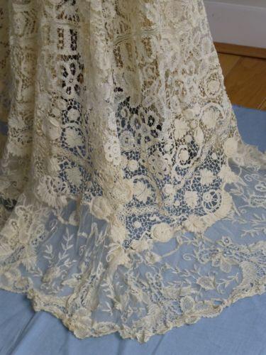 Античный викторианской эдвардианской кружевная панель юбка ирландский вязаный крючком брюссель бельгия кружева | eBay