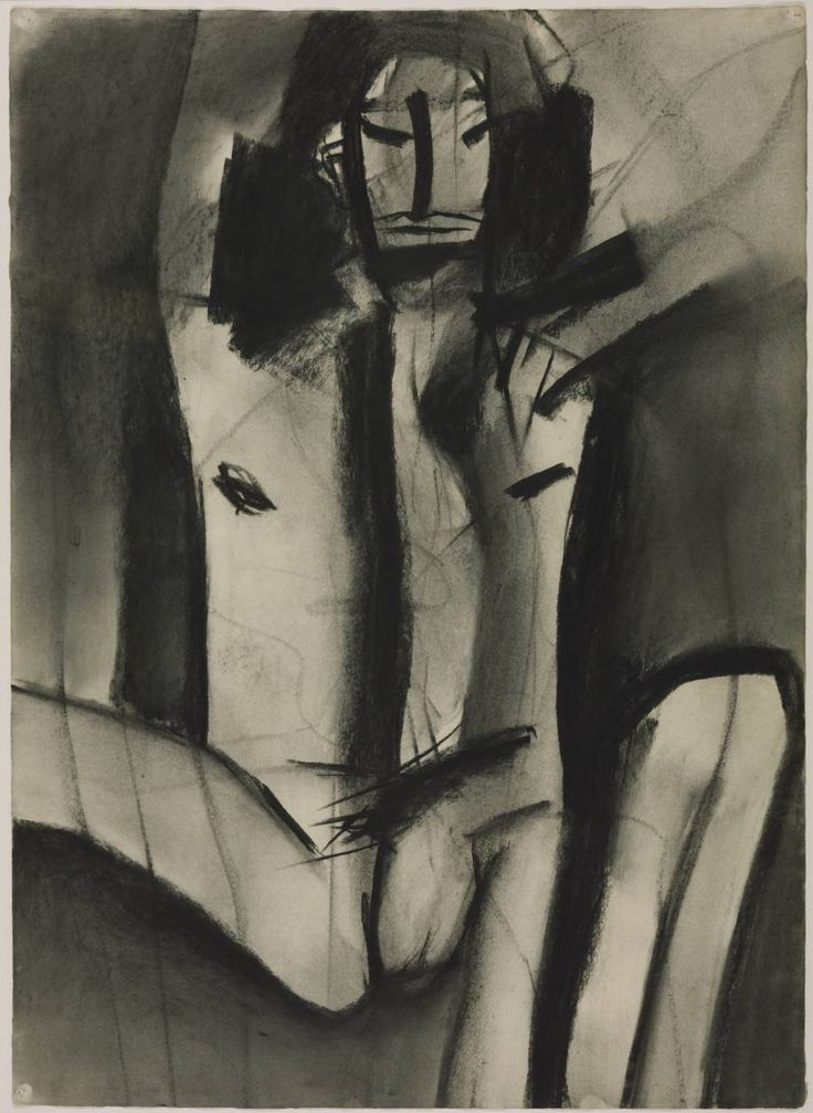 Keith Vaughan 'Untitled (Male Figure)', c.1970