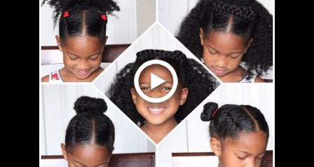 4 EASY Back to School Natural Hairstyles for KIDS
