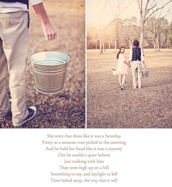 fetching a pail- engagement pics