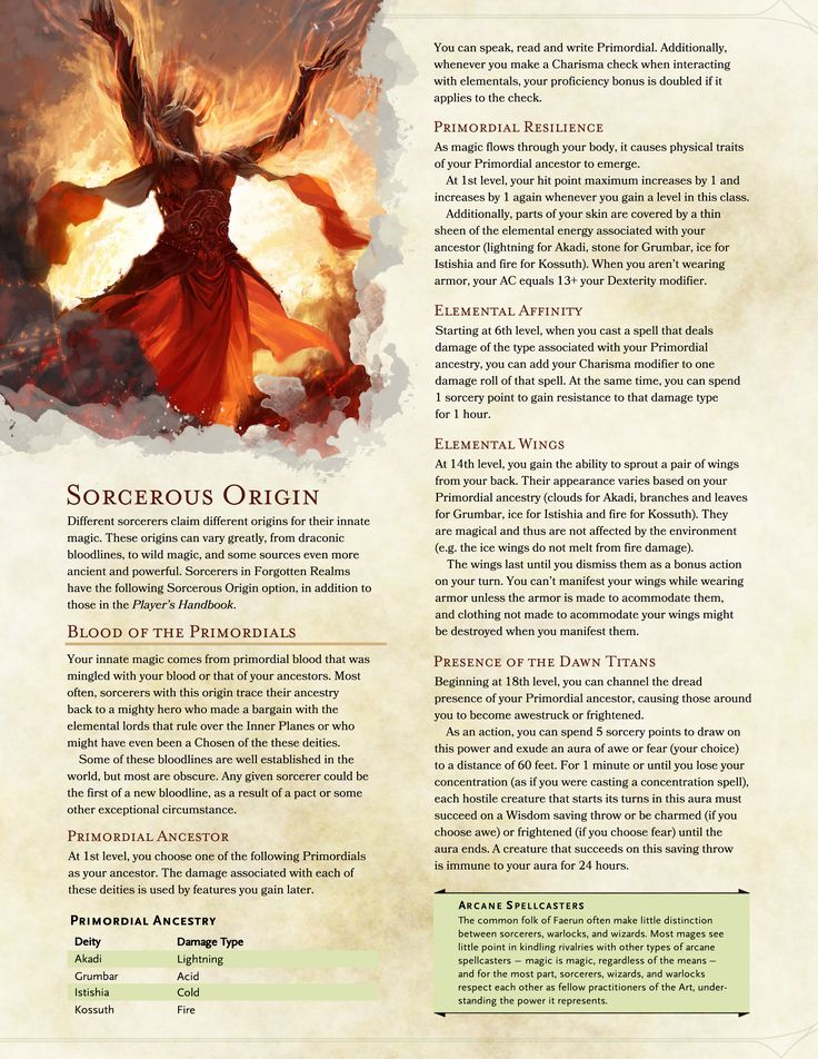 Post With 6 Votes And 1585 Views D Sorcerous Origin Blood Of The Primordials Reskinned Draconic Bloodline