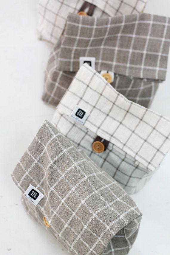 Linen lunch bag for women linen lunch bag adult lunch by feellinen