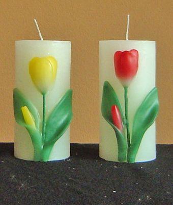 handmade tulip candle