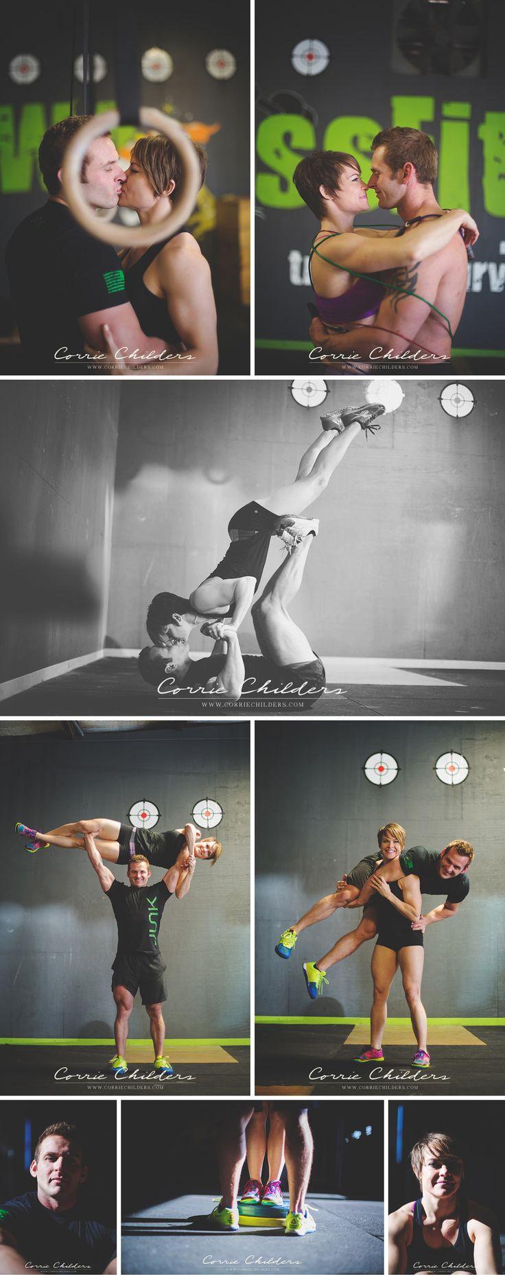 CrossFit Engagement Photos / CrossFit / CrossFit Couple / Swolemates / Wedding Fitness / Buff bride