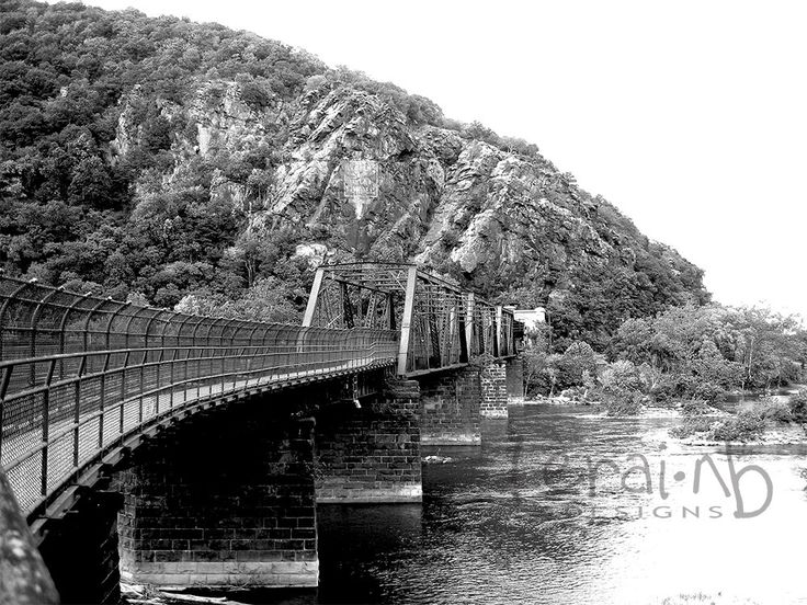 A personal favorite from my Etsy shop https://www.etsy.com/listing/202592660/bridge-photoharpers-ferry-railroad