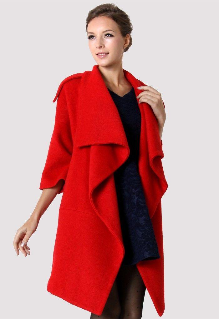 e7071f768a88e Chicwish Drape Red Cape - Outers - Retro, Indie and Unique Fashion