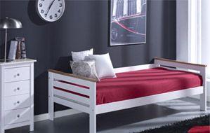 99€ Cama juvenil en blanco lacado. #cama #juvenil #blanco #dormitorio Deskontalia Productos - Descuentos del 70%