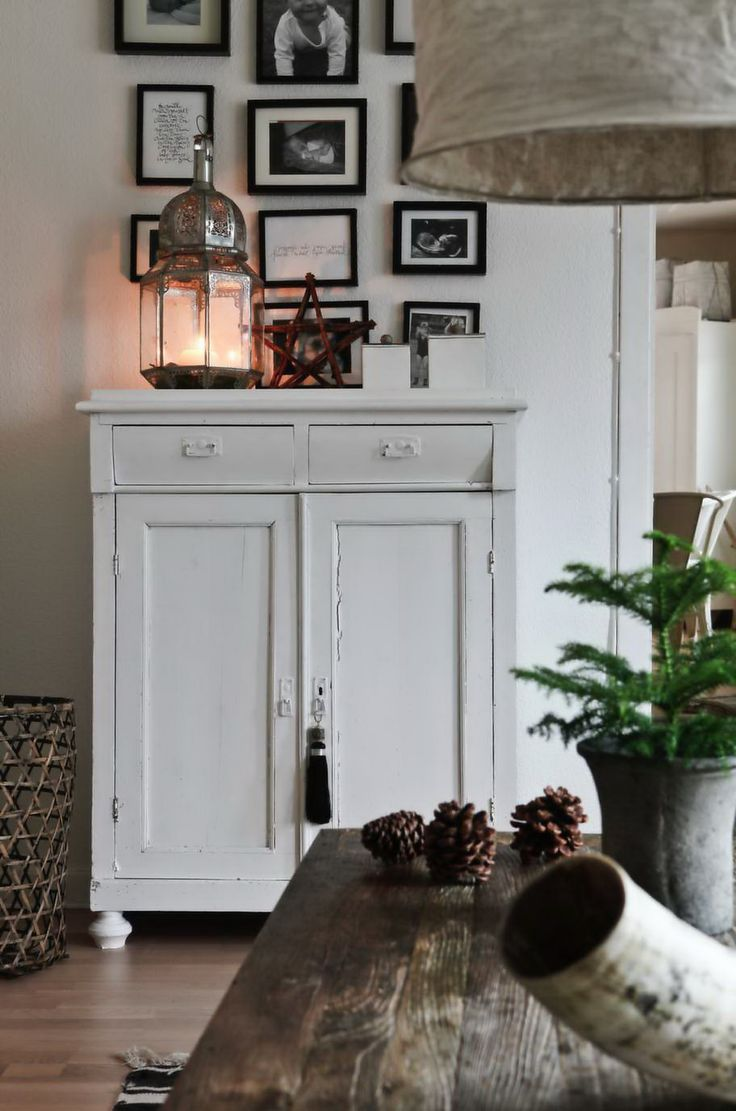 Details - Swedish home. LOVE this little cabinet. Would be so cute for blankets