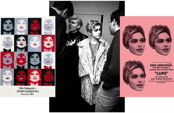 Постер к фильму Addio! Manhattan, 1972; Энди Уорхол и Эди Седжвик на вечеринке, 1980; постер к фильму Lupe, 1966