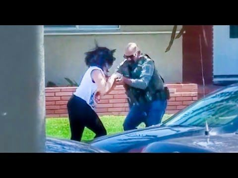 U.S. Marshal smashes woman's phone as she tries to film him - Filming a cop is legal, but you wouldn't know it based on how many of them seem to react when confronted with cameras. Take, for example, the video above, which shows elementary school teacher Beatrice Paez filming the U.S. Marshals Service as they attempted a raid.