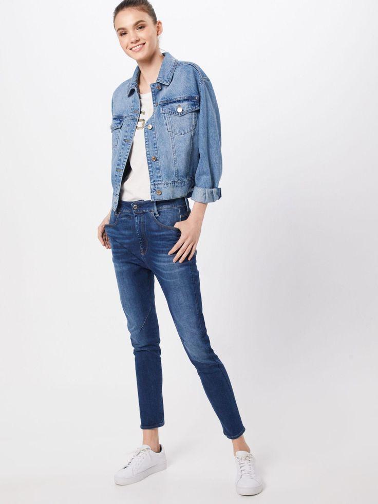 G Star Raw Jeans D Staq Mid Boy Slim Wmn In Blue Denim G Star Raw Jeans D Staq Mid Boy Slim Wmn Damen Blue Denim In 2020 G Star Raw Jeans G Star