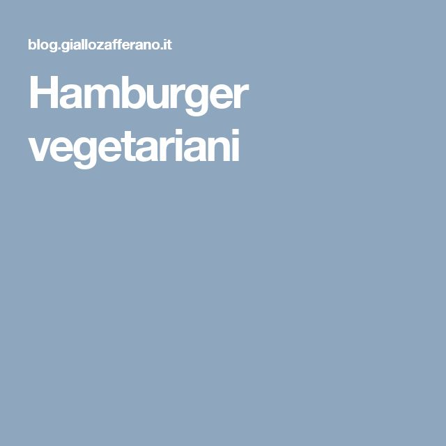 Hamburger vegetariani