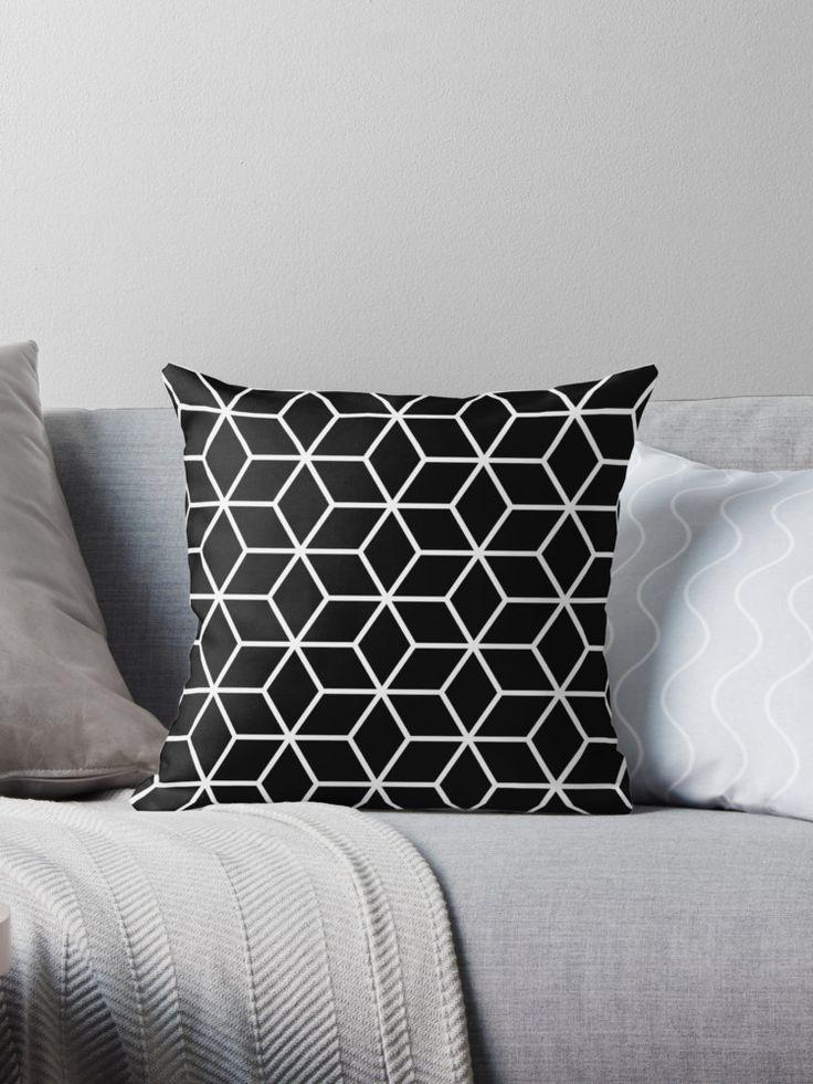 Black Interlocked hexagon lattice by ImageNugget