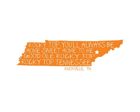 Tennessee Vols Vinyl Decals Tennessee Car Decal Tennessee