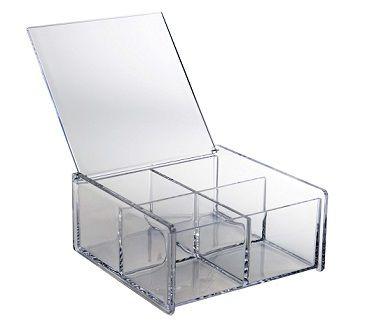 La boite de rangement acrylique, 4 compartiments