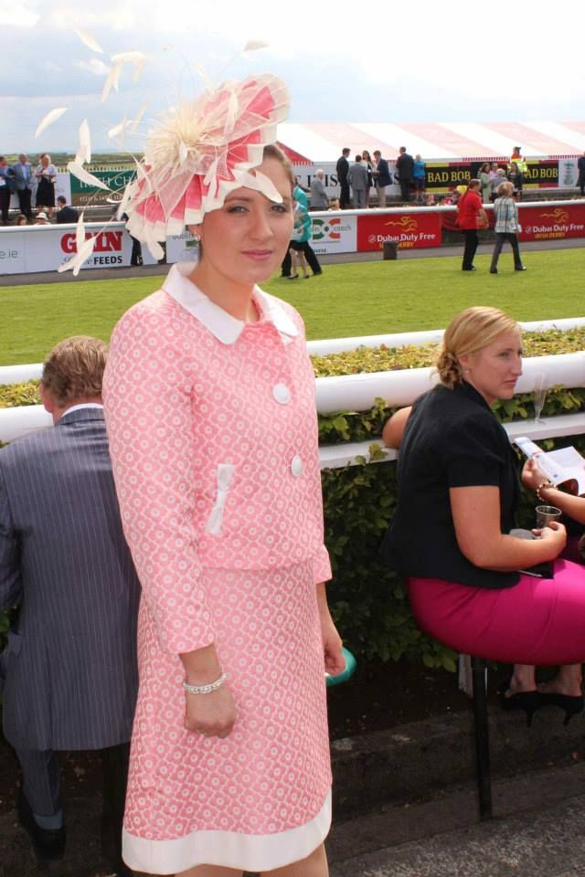 JHK Millinery at the Irish Derby, Curragh Racecourse, 2014.  . #pinkdress