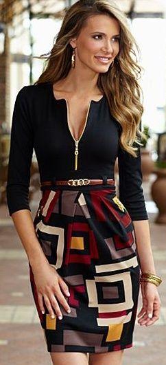 El estampado de la falda es lo que me gusta!