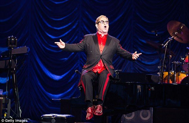 Sir Elton performs during The Henley Festival last year in Henley-on-Thames, Oxfordshire...