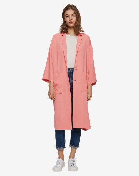 Langer Mantel 'Lexa' - Pink