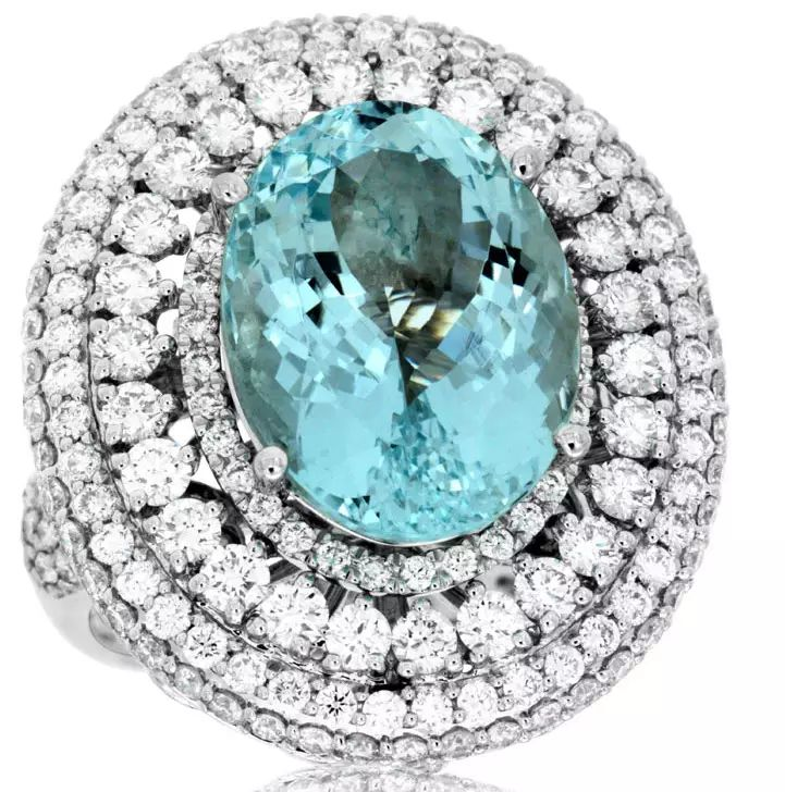 Royal Jewelry aquamarine cocktail ring.