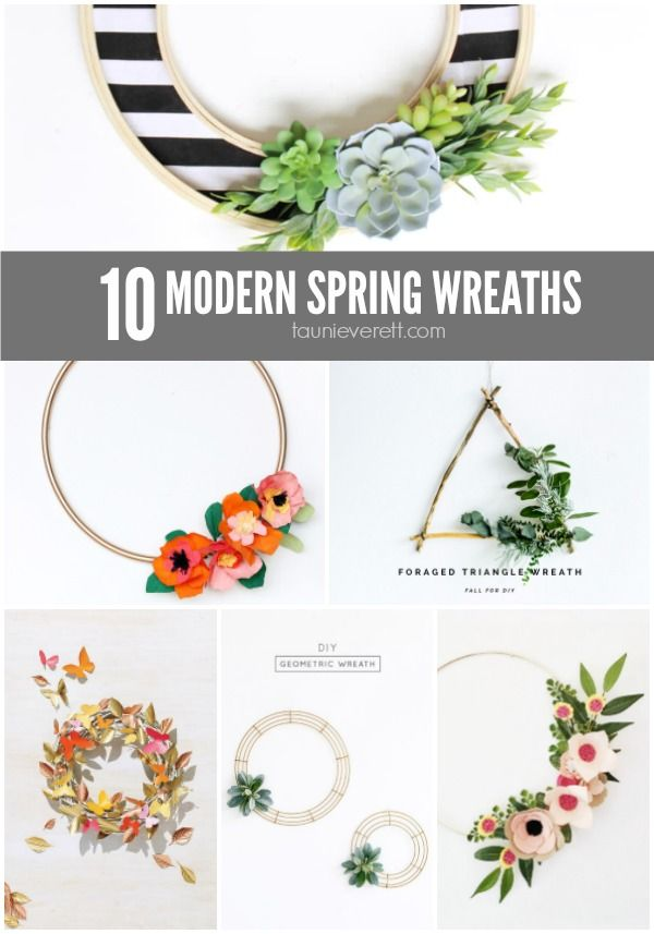 Ready for warmer weather? Update your front door with one of these modern spring wreaths. You'll be ready to slip on shorts and sit out on the porch.