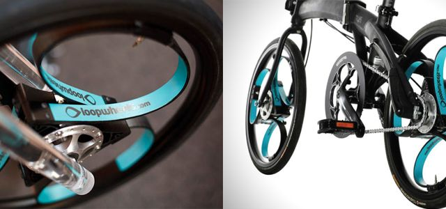 Spokeless wheels bring full suspension to foldable bikes. Wish I had them on my foldable.