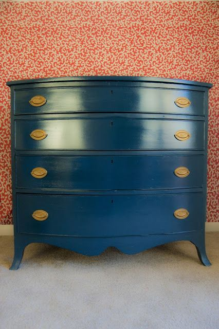 Dresser painted with Rainstorm Benjamin Moore.. 16 of the best colors for painting furniture.