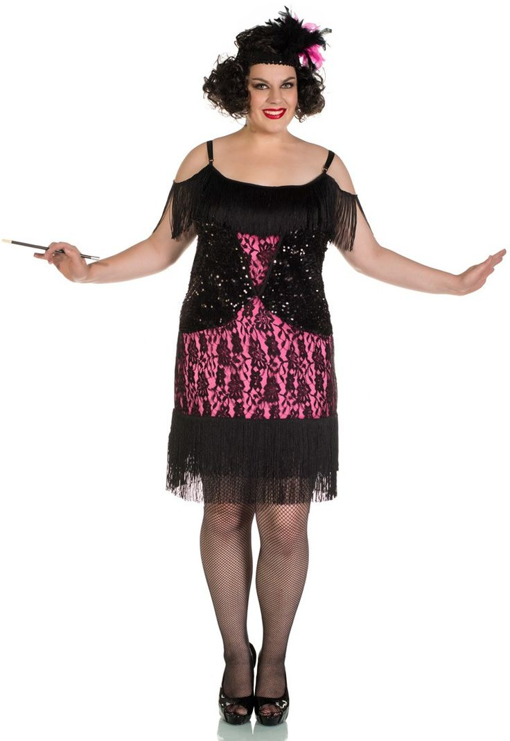 Women's roaring 20's plus size flapper girl fancy dress costume by Elevate Costumes Australia. This top quality 1920's pink and black flapper costume will have you dancing all night long at your next gangsters and flappers 1920's fancy dress costume party! See below for full description and size details.