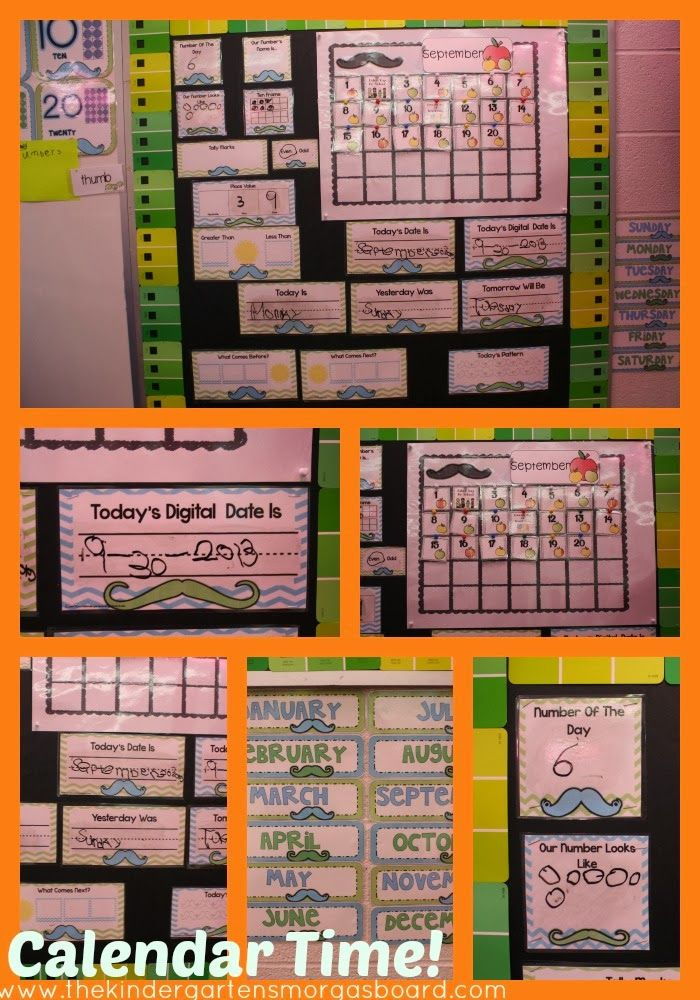 Kindergarten Calendar Time Common Core : A kindergarten smorgasboard calender routine