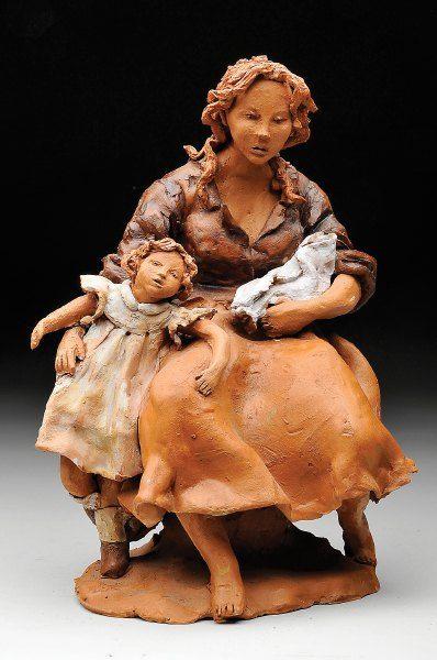 """Autor: ANTONIETA ROQUE GAMEIRO - NASC. 1945 Designação: """"Maternidade"""""""