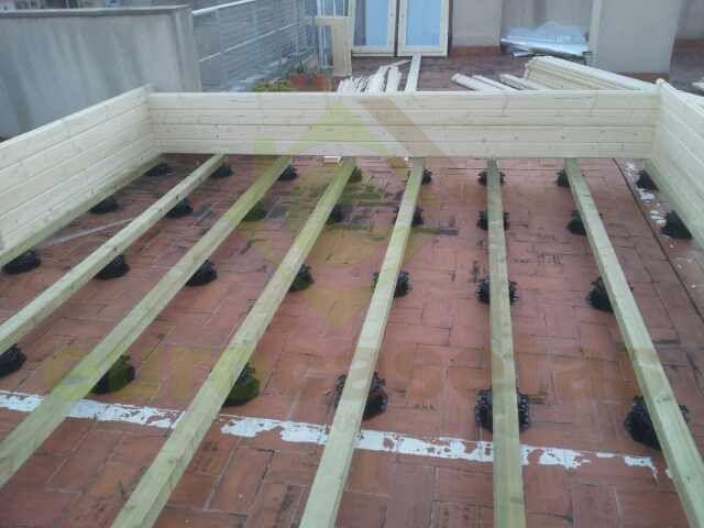 M s de 1000 ideas sobre madera tratada en pinterest - Cubierta sobre plots ...