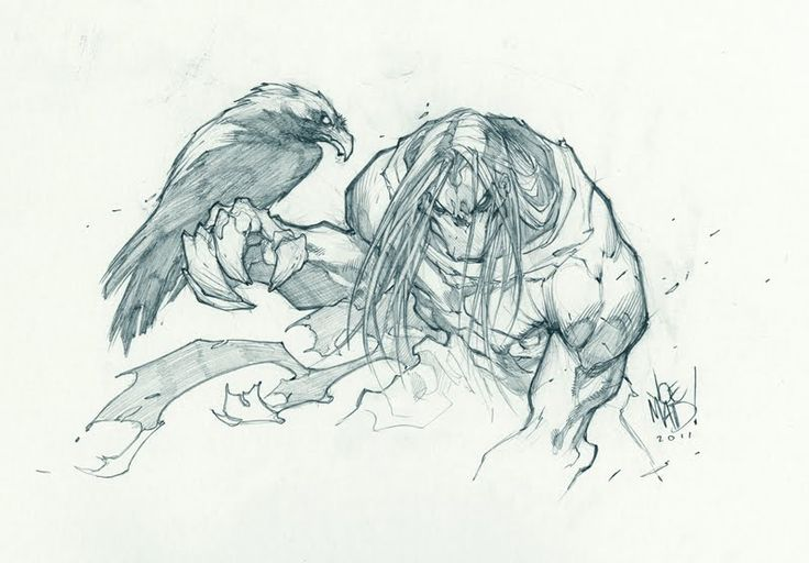 Death from Darksiders, art by Joe Madureira.