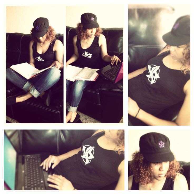 """She ROCKS her Starr while studying.  NorthStarr Classic (By NorthStarr Media Group) women's tank available in the Starr Store (board).  """"How do you wear your Starr?""""  #education #college #studying #student #clothing #fashion #womensfashion #fashionista #style #onlinestore #girltanktop #womenstanktop #tanktopsforwomen #bayareafashion"""