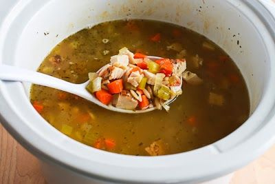 ... for Slow Cooker Lemony Turkey (or chicken) Soup with Spinach and Orzo