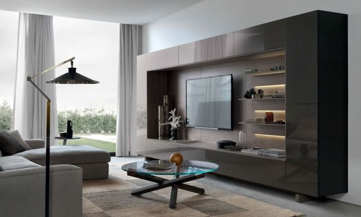 Modern TV cabinets media living room furniture storage bookcases